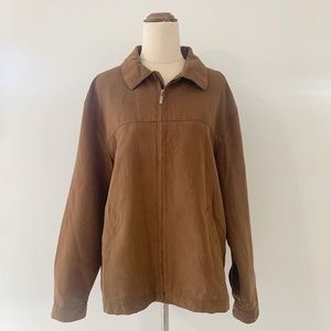 Targer Faux Suede Brown Jacket